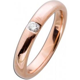 Vorsteckring Rotgold 585 - Diamant 0,15ct W/SI Brillantschliff