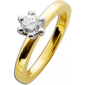 Verlobungsring Gold 585 Diamant 0,50ct W/SI Brillant Schliff