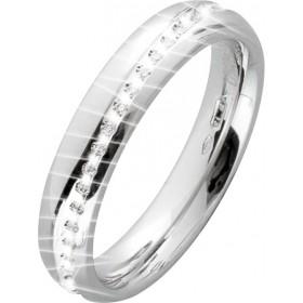 Memoire Ring Weißgold 750 Brillanten 0,15ct G-F/SI-VS