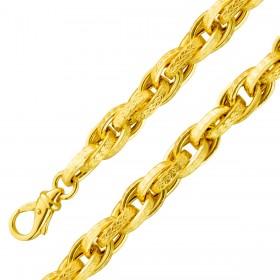 Armband Gelbgold 375 Kordelhalbmassiv 19cm