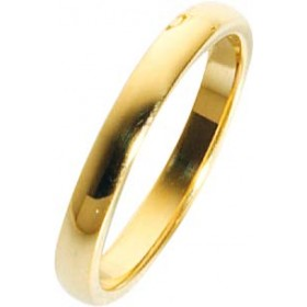 Trauring in Gelbgold hochglanzpoliert 585/  14 karat Breite 3mm, Stärke 1,7mm  Die Gravur der Trauringe sowie das Etui erhalten Sie kostenlos und bei diesen einfarbigen Trauringen - Eheringen ist auch der kostenlose jährliche Auffrischungsservice  beinhal