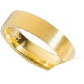 Trauring aus Gelbgold 750/- (18 Karat) , Breite 6,0 mm, Stärke 1,6 mm.