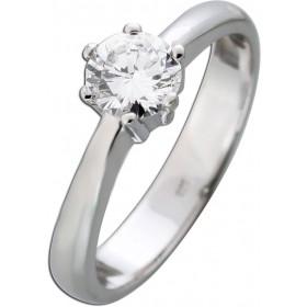 Solitärring Diamant 0,66ct River D / VVS1 IGI zertifiziert Brillantschliff Weißgold 585