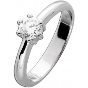 Diamantring Verlobungsring Weißgold 585 Brillant 0,55ct River E / SI