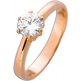 Solitär Ring Verlobungsring Roségold 585 Brillant 0,69ct TW / VVSI