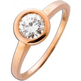 Solitär Ring Verlobungsring Roségold 585 Brillant 0,66ct TW/VSI
