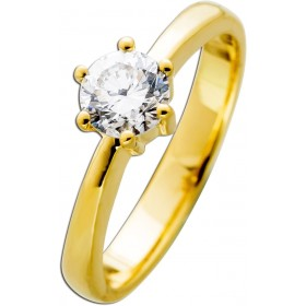 Diamantring Gold 585 Brillant 0,62ct TW F / VVS1 IGI zertifiziert