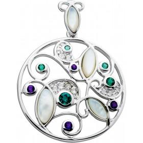 Anhänger Sterling Silber 925 rund verschiedene Steine