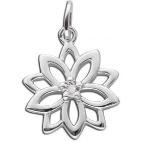 Anhänger Sterling Silber 925 Lebensblume Diamant