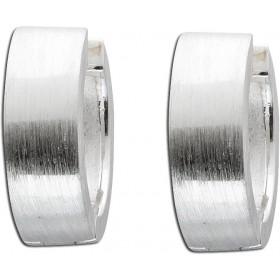 Ohrringe Klappcreolen Sterling Silber 925
