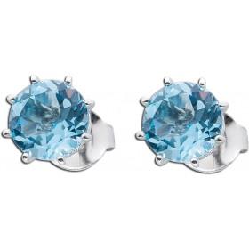 Ohrringe - Blautopas Ohrstecker Silber 925 poliert