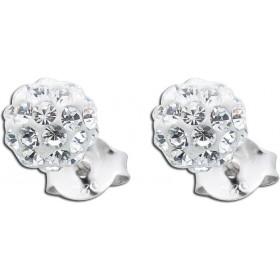 Ohrringe - Kristallohrstecker Silber 925 Kristalle rundum