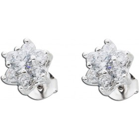 Ohrringe sternförmige Ohrstecker Sterling Silber 925 Zirkonia