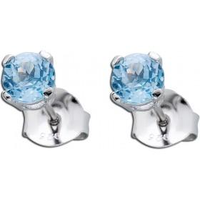 Ohrringe - Blautopas Ohrstecker Silber 925 Krappe