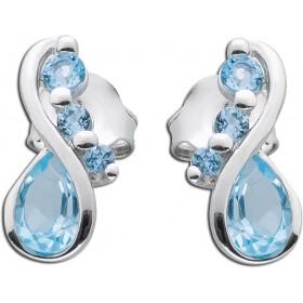 Ohrringe - Ohrstecker Sterling Silber 925 Blautopas