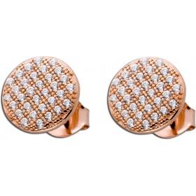 Ohrringe - Ohrstecker Sterling Silber 925 Zirkonia rosévergoldet