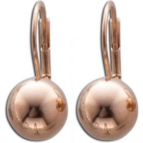 Ohrringe - Ohrhänger Kugel in Silber Sterlingsilber 925/-,   rosevergoldet
