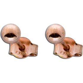Ohrringe Ohrstecker Sterling Silber 925 rosévergoldet Kugel Ø 4mm