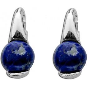 Ohrringe Ohrhänger T-Y Sterling Silber 925 rhodiniert Lapislazuli