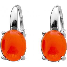 Ohrringe Ohrhänger T-Y Sterling Silber 925 Karneol