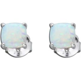 Ohrringe Ohrstecker Sterling Silber 925 rhodiniert synthetischer Opal