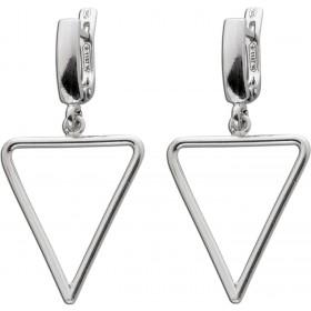 Ohrringe - Schaniercreole mit Dreieck Sterling Silber 925
