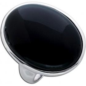 Silberring Sterling Silber 925 Onyx Cabochon