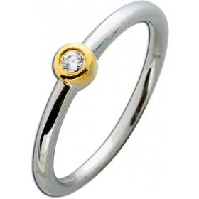 Ring Sterling Silber 925 weißen funkelnden Zirkoniastein hochglanzpoliert