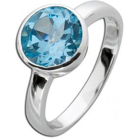 Ring Blautopas - Sterling Silber 925 poliert