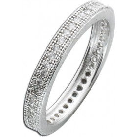 Ring Sterling Silber 925 Zirkonia Memoire Ring