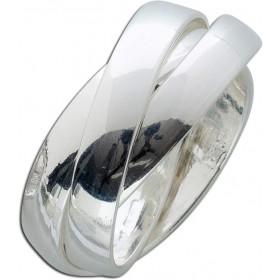 Trinity Ring Silber 925 3-teilig ineinander verschlungen poliert