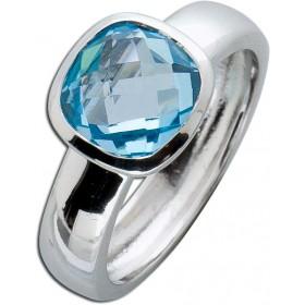 Blautopas Ring - Silberring Sterling Silber 925