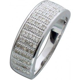 Ring Sterling Silber 925 poliert 85 Diamanten