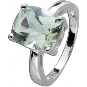 Edelstein Ring Sterling Silber 925  grün facettierten Amethyst