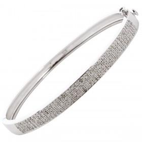 Armreif Sterling Silber 925 Diamanten Edelsteine