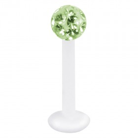 Piercing Labret hautverträglicher Kunststoff Stab 1,2mm Stärke hellgrün