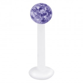 Piercing Labret hautverträglicher Kunststoff Stab 1,2mm Stärke tansanit