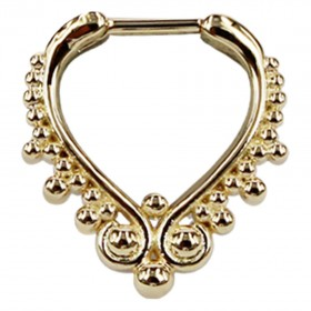 Piercing Septum Steg Chirurgenstahl 316L PVD Gold Ring aus Metall Klicker 10mm