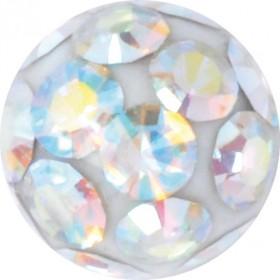 Gewindekugeln Bauchnabelpiercing Chirurgenstahl 1,2mm Gewindestärke Kugelfarbe Aurora Boreale