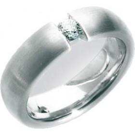 Trauring in Weißgold 585/-, Brill. 0,20ct W/SI, Breite 6,0mm, Stärke 2,5mm, der Ring ist poliert, die Gravur der Trauringe sowie das Etui erhalten Sie kostenlos und bei diesen einfarbigen Trauringen - Eheringen ist auch der kostenlose Auffrischungsservice