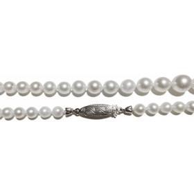 Perlenkette - Perlencollier Sterling Silber 835 japanische Akoyazuchtperlen