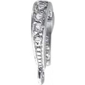 Einhängeclip Sterling Silber 925 Zirkonia