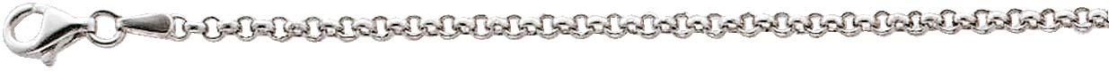 UNO A ERRE Charmskette Ankerkette Silberkette Halskette Sterling Silber 925 massiv poliert 3mm 50 250571150