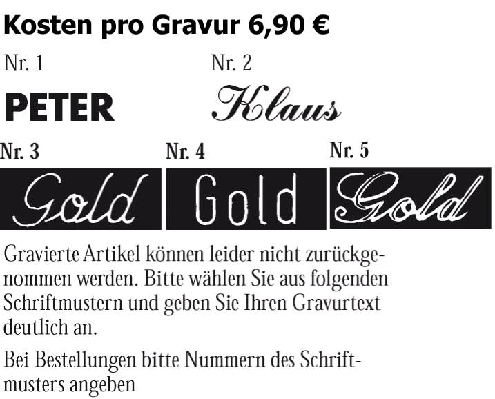 Gravurschriften bei Abramo.de